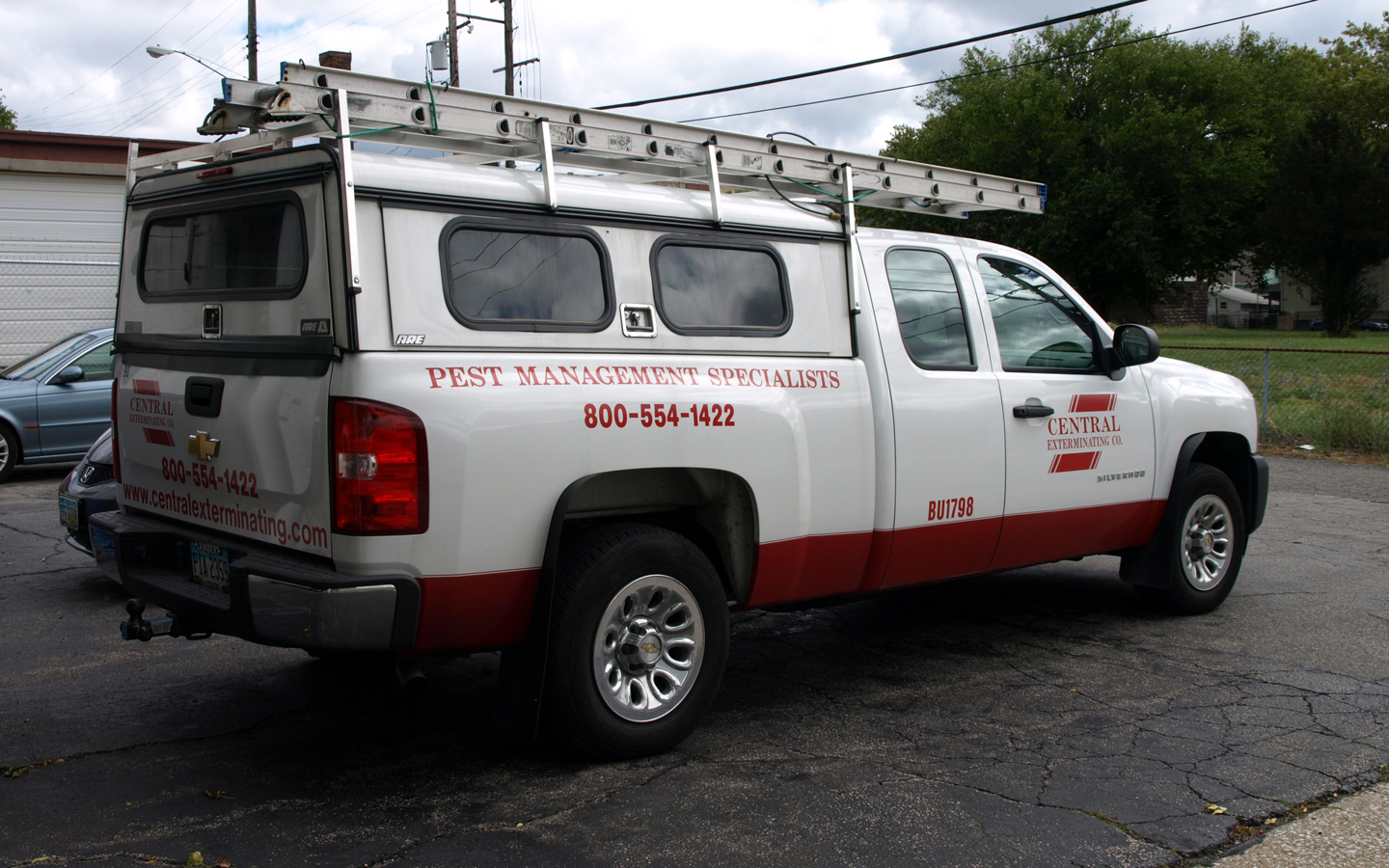 Photo of a Central Exterminating Co. truck.