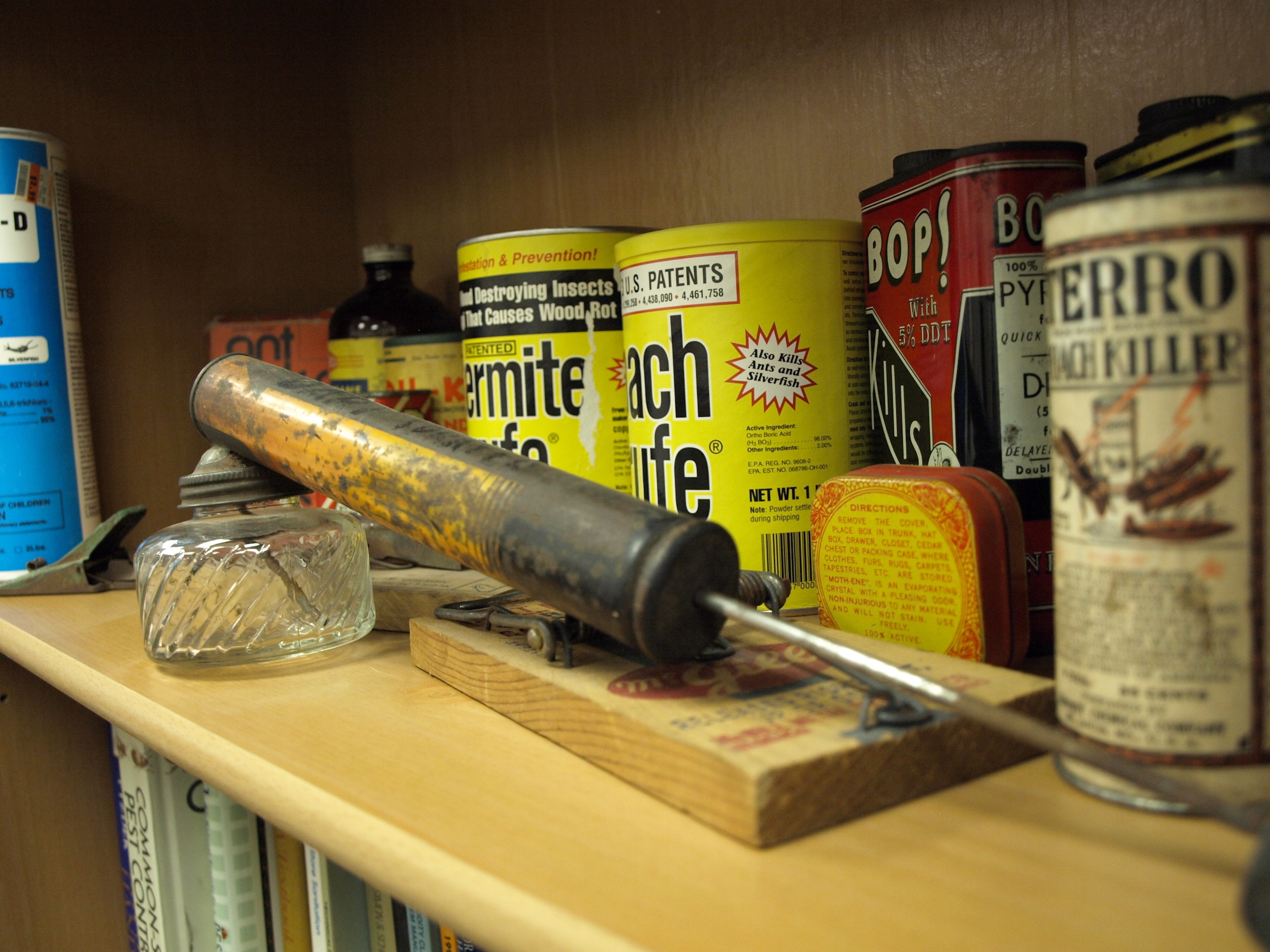 Photo of old pest control artefacts. We've been doing this a long time!